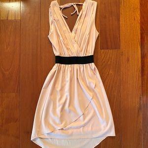 Blush Pink Chiffon Dress size Small